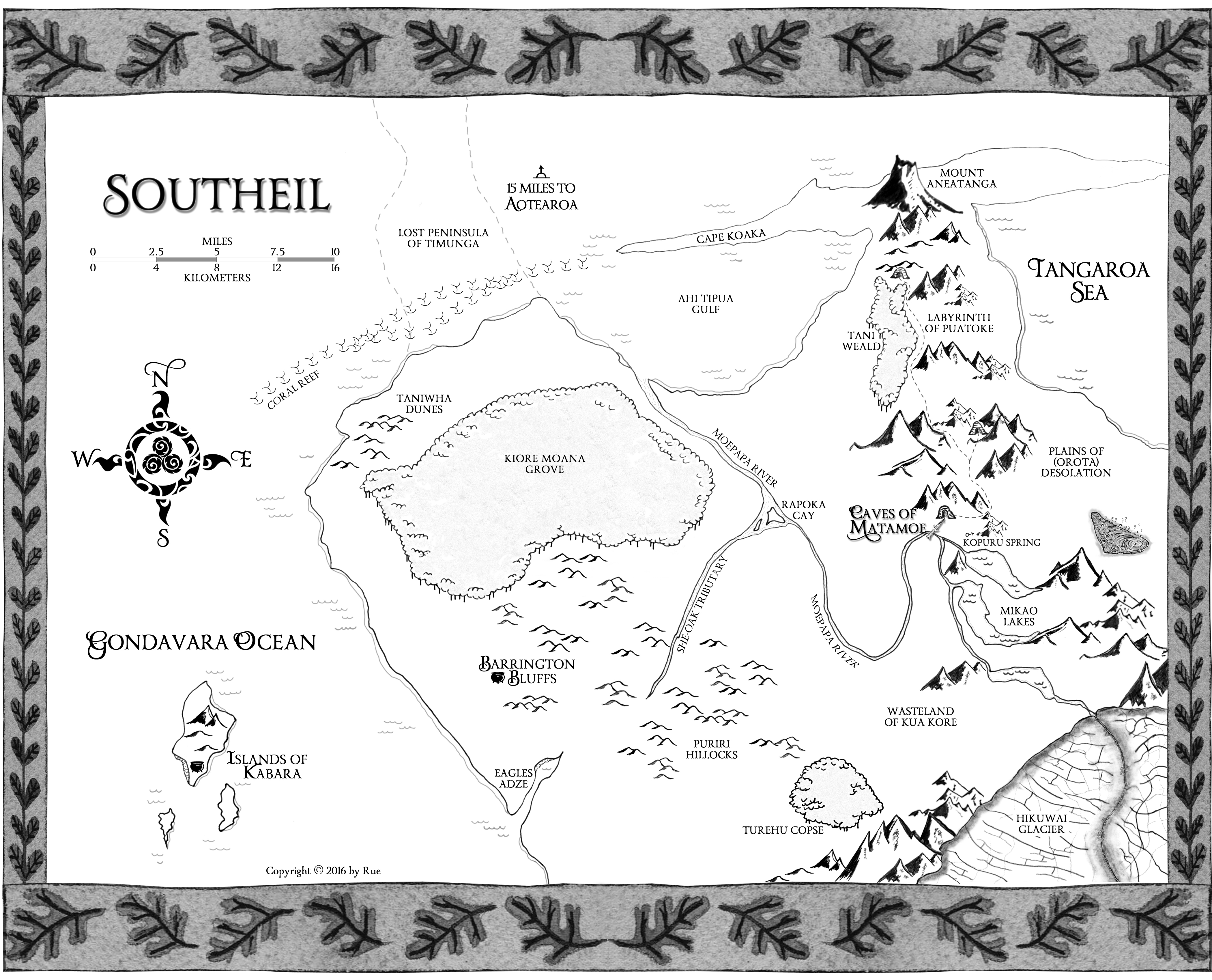 Map of Southeil for Chronicles of Hawthorn YA fantasy